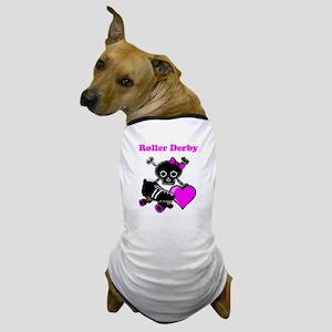 Roller Derby Heart (Pink) Dog T-Shirt
