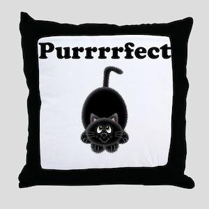 Purrrrfect Throw Pillow