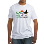 Halloween Eat Stay Play Fitted T-Shirt
