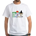 Halloween Eat Stay Play White T-Shirt