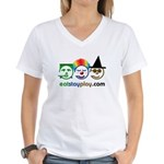 Halloween Eat Stay Play Women's V-Neck T-Shirt