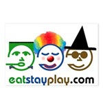 Halloween Eat Stay Play Postcards (Package of 8)