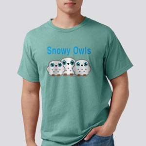 Three Snowy Owls Mens Comfort Colors Shirt