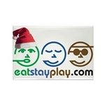 Christmas Eat Stay Play Rectangle Magnet