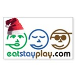 Christmas Eat Stay Play Rectangle Sticker