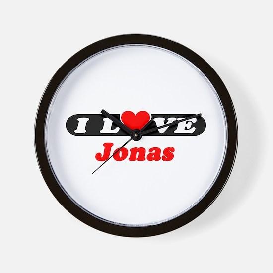 I Love Jonas Wall Clock
