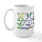 Easter - Eat Stay Play Large Mug