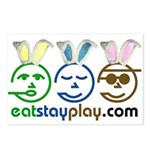 Easter - Eat Stay Play Postcards (Package of 8)