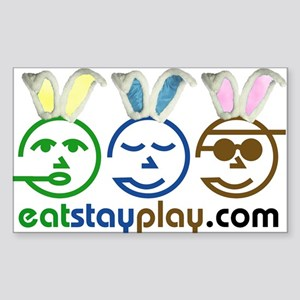 Easter - Eat Stay Play Rectangle Sticker