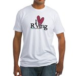 I Love RVing Fitted T-Shirt