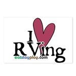 I Love RVing Postcards (Package of 8)