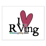 I Love RVing Small Poster