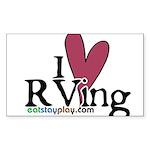 I Love RVing Rectangle Sticker