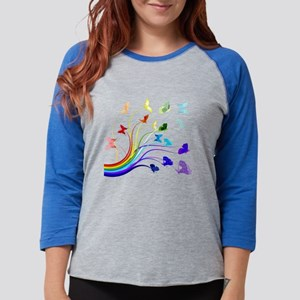 Butterflies and Rainbows Long Sleeve T-Shirt