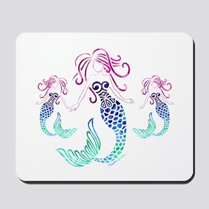 Mystical Mermaid with Two Daughters Mousepad