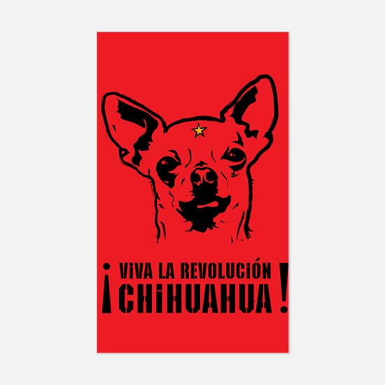 Chihuahua Revolution! Rectangle Decal