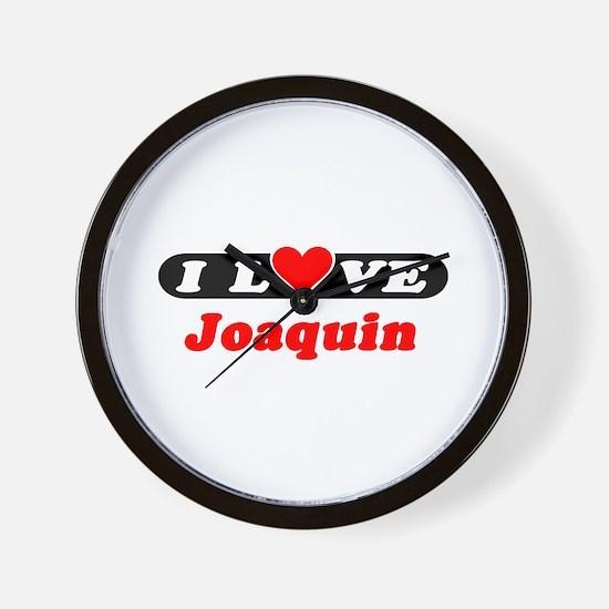 I Love Joaquin Wall Clock