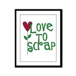 Love to Scrapbook - Heart Flo Framed Panel Print