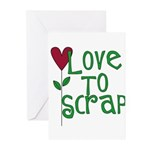 Love to Scrapbook - Heart Flo Greeting Cards (Pack