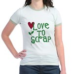 Love to Scrapbook - Heart Flo Jr. Ringer T-Shirt