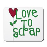 Love to Scrapbook - Heart Flo Mousepad