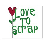 Love to Scrapbook - Heart Flo Small Poster