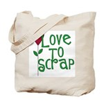 Love to Scrapbook - Heart Flo Tote Bag