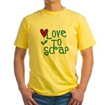 Love to Scrapbook - Heart Flo Yellow T-Shirt