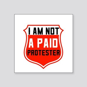 New Red Paid Protester Logo Sticker