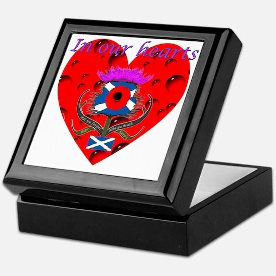 In our hearts military heros Keepsake Box