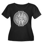 Celtic Dragon Women's Plus Size Scoop Neck Dark T-