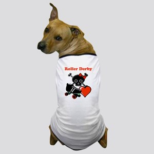 Roller Derby Heart (Red) Dog T-Shirt