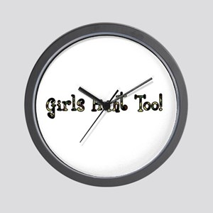 Girls Hunt Too Wall Clock