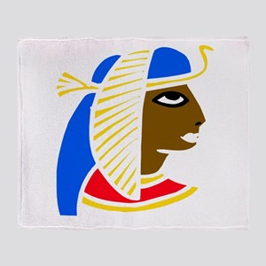 African Egyptian girl Throw Blanket