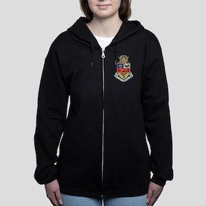 Kappa Psi Crest Women's Zip Hoodie