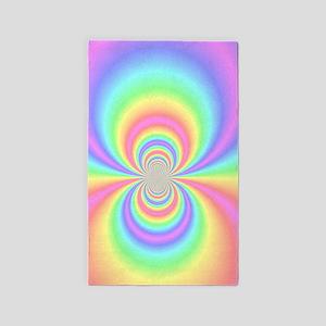 Psychedelic Rainbow 3'X5' Area Rug