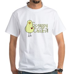 Scrappy Chicks 3 White T-Shirt