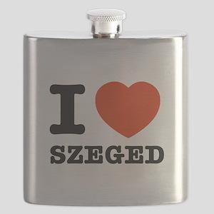 I LOVE SZEGED Flask