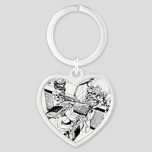 Topcon Cutaway Heart Keychain