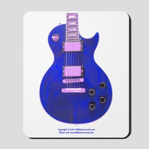 """Neon Blue"" Guitar Mousepad"