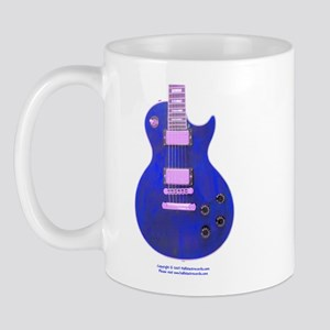 """Neon Blue"" Guitar Mug"