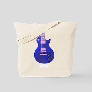 """""""Neon Blue"""" Guitar Tote Bag"""
