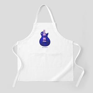 """Neon Blue"" Guitar BBQ Apron"