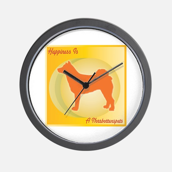 Norrbottenspets Happiness Wall Clock