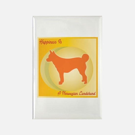 Lundehund Happiness Rectangle Magnet