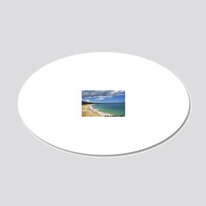 Big Beach (Large Poster) 20x12 Oval Wall Decal