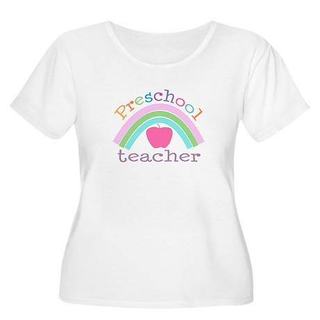 Preschool Teacher Women's Plus Size Scoop Neck Tee