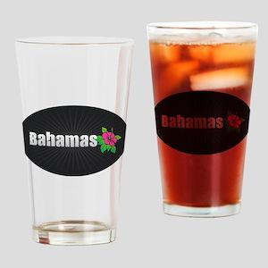 Bahamas Hibiscus Drinking Glass