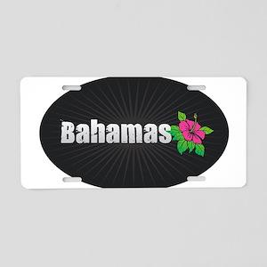 Bahamas Hibiscus Aluminum License Plate
