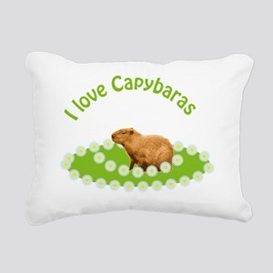 I love Capybaras Rectangular Canvas Pillow